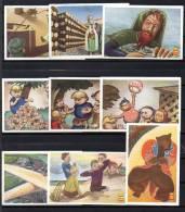 Lot De 9 Images Produits Veen Frères - Les Barbes Rouges - Vieux Papiers