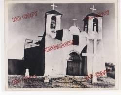 Photo Gd Format 18 Par 24 Cm Etats Unis USA Propagande Fin Années 40 Eglise Franciscaine Nouveau Mexique - Guerre, Militaire