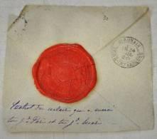 VALENCIENNES NORD CACHET CIRE NOTAIRE ROYAL DUPIRE ANCIEN SCEAU EPOQUE RESTAURATION 1815-1850 TRIBUNAL CIVIL - Obj. 'Remember Of'