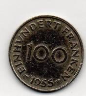 Ein Hundert  Franken  1955  Saarland  Sarre - [ 8] Saarland