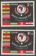 Ghana. 1959 African Freedom Day. MH Complete Set - Ghana (1957-...)