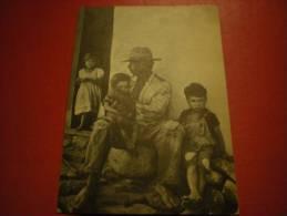 Père Et Ses Enfants, Pauvreté - Cartes Postales