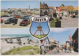 Lokken - Multiview: VW PASSAT, MOTORCYCLE, MERCEDES, VOLVO 145 - Boats/Ships Etc.  Auto / Car - Danmark - Passenger Cars