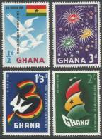 Ghana. 1960 3rd Anniversary Of Independence. MH Complete Set - Ghana (1957-...)