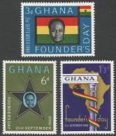 Ghana. 1960 Founders Day. MH Complete Set - Ghana (1957-...)