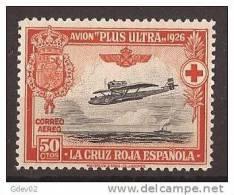 ES346-LA1018TESO.España . Spain Espagne.1ª CRUZ ROJA ESPAÑOLA AEREA 1926 (Ed 346**)sin Charnela LUJO - Otros