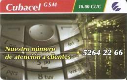 TARJETA DE CUBA DE CUBACEL GSM EN PLASTICO BRILLANTE - Cuba