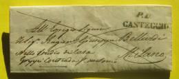 Prefilatelica Da Casteggio Per Milano 10/07/1846 - 1. ...-1850 Prephilately