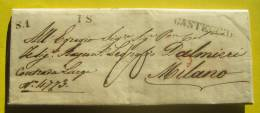 Prefilatelica Da Casteggio Per Milano 11/08/1846 - 1. ...-1850 Prephilately