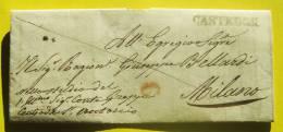 Prefilatelica Da Casteggio Per Milano 19/02/1847 - 1. ...-1850 Prephilately