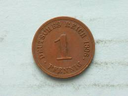 1896 G - 1 PFENNIG / KM 10 ( Uncleaned - For Grade, Please See Photo ) !