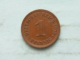1909 D - 1 PFENNIG / KM 10 ( Uncleaned - For Grade, Please See Photo ) !