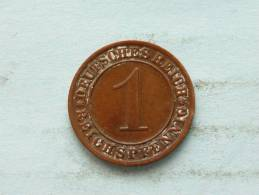 1933 A - 1 REICHSPFENNIG / KM 37 ( Uncleaned - For Grade, Please See Photo ) ! - [ 3] 1918-1933 : Weimar Republic