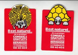 2 Autocollants / Adesivi / Aufkleber / Stickers - Police Cantonale Bernoise - Autocollants