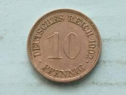 1902 G - 10 PFENNIG / KM 12 ( Uncleaned - For Grade, Please See Photo ) ! - 10 Pfennig