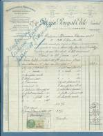 1926 - FATTURA  PUBBLICITARIA (ADVERTISING) - PORCELAINE DE LIMOGES - PARIS - CON MARCA DA BOLLO - 1900 – 1949