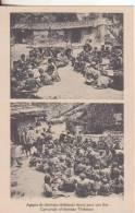 1-Tibet-Tema:Festa-Feste-Fêtes-Feast-Feasts:Agapes Chètiens Thibétains Réunis Por Une Fête..cristian-Religione-. - Tibet