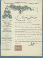 1926 - FATTURA PUBBLICITARIA (ADVERTISING) - VERVIERS (BELGIQUE) COSTRUZIONE MACCHINE STOFFE E LANE -CON MARCHE DA BOLLO - 1900 – 1949