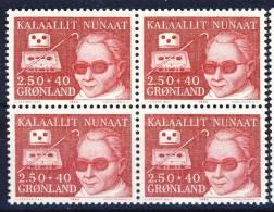 #Iceland 1983. Block Of 4. Blind. Charity. MNH(**) - Groenlandia