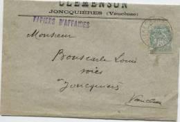 JONCQUIERES (Vaucluse) Cachet à Date Type A 2 Sur N° 111 - Marcophilie (Lettres)