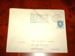 ENVELOPPE TP Timbre OBL 67 Alsace 1956 HAGUENAU FLAMME QUINZAINE DE LA FORET ET DU BOIS - Poststempel (Briefe)