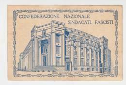 Tessera Fascista Confederazione Sindacati Fascisti-Anno VI-Italy Italia - Altri