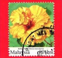 MALESIA - MALAYSIA - Usato - 2010 - Fiori - Flowers - Fleurs - Hibiscus Rosa - 80 Sen - Malesia (1964-...)