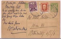 Czechoslovakia Airmail Postcard To Austria, WWII, 1945, Postal Histary, Postal Markings,   (9459) - Tsjechoslowakije
