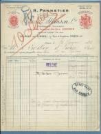 1920 - FATTURA PUBBLICITARIA (ADVERTISING) - PARIS H.PANNETIER  - ATKINSON  Parfums -SAVONNIERS - PROFUMI DI LUSSO - Francia