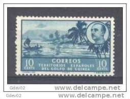 GUI279-LA438TVAR.Guinee   .GUINEA     ESPAÑOLA..PAISAJES Y EFIGIE   1949/0.  (Ed 279**) Sin Charnela.MUY BONITO - Árboles