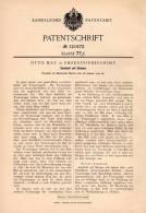 Original Patentschrift - Otto May In Ehrenfriedersdorf , 1900 , Spielball Mit Stimmen , Spielzeug , Ball  !!! - Antikspielzeug