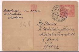 Czechoslovakia Airmail Postcard  WWII, 1945, Postal Histary, Postal Markings, (9491) - Tsjechoslowakije