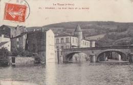 Brassac 81 -  Pont Mairie  - Oblitération 1913 - Brassac