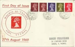 INGLATERRA FDC MACHIN 1969 LEEDS - Machins