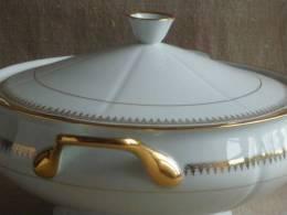 Soupière Porcelaine De Sologne Larchevéque N°7 Ornement Frise Or. Voir Photos. - Unclassified