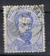 Sello 10 Cts Amadeo 1872, Fechador AREVALO (Avila), Num 121 º - 1872-73 Reino: Amadeo I