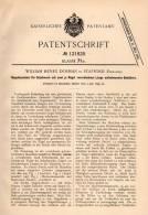 Original Patentschrift - W. Dorman In Stafford , England , 1899 , Nagel - Maschine Für Schuhe , Shoes , Shoe !!! - Tools
