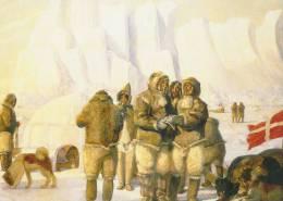 Greenland  - Painting Of Greenland Explorers. B-2481 - Greenland