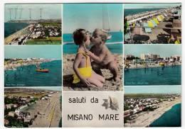 SALUTI DA MISANO MARE - RIMINI - 1961 - Rimini