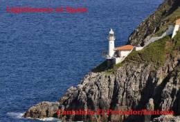 Lighouses Of Spain - Cantabria/El Pescador-Santoña Postcard Collector - Faros