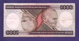 BRASIL ,  Banknote,  MINT UNC., 5000 Cruzeiros KM Nr. 202 - Brazil