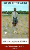 """P4125 """"CENTRAL AFRICAN REPUBLIC"""" (Colour Photogravure Boy Scout Postcard) - Scouting"""