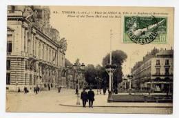 K21 - TOURS - Place De L'Hôtel De Ville Et Boulevard Heurteloup (1924 - Timbre Des J.O. à Paris ) - Tours