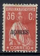 130100372 AZOR C.P.  YVERT   Nº  184 *  MH - Azores