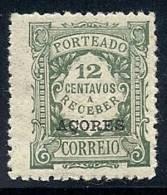 130100390 AZOR C.P.  YVERT  TAXE   Nº  28/29/30/31/33/34/36  *  MH - Azores