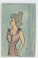 Illustration à La Main De Carlos Lossow ( Ribeauvillé ) : Silhouette D´une Femme - Autres Illustrateurs