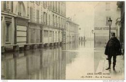 75-Crue De La Seine-Rue De Pontoise-ELD No 167-Agent De Police - Inondations De 1910