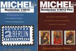 MICHEL Briefmarken Rundschau 1/2013 Und 1 Plus/2013 Neu 10€ New Stamps Of The World Catalogue And Magacine Of Germany - Loisirs Créatifs