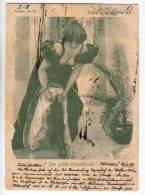 FASHION WOMAN IN FANCY DRESS DRESSING UP DESSIN Nr. 95 OLD POSTCARD 1899. - Fashion
