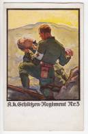 RED CROSS THE FAITHFUL PAL SOLDIERS Nr. 3 FOR WIDOWS AND ORPHANS FUND THE REGIMENT OLD POSTCARD - Red Cross